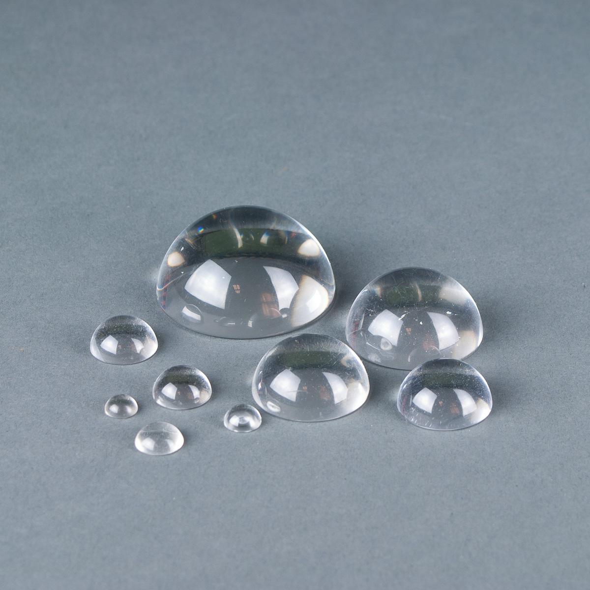 Clear acrylic cabochon