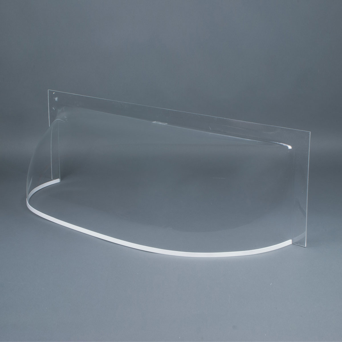 "Clear 3/16"" flat front cast acrylic bubble window well cover"