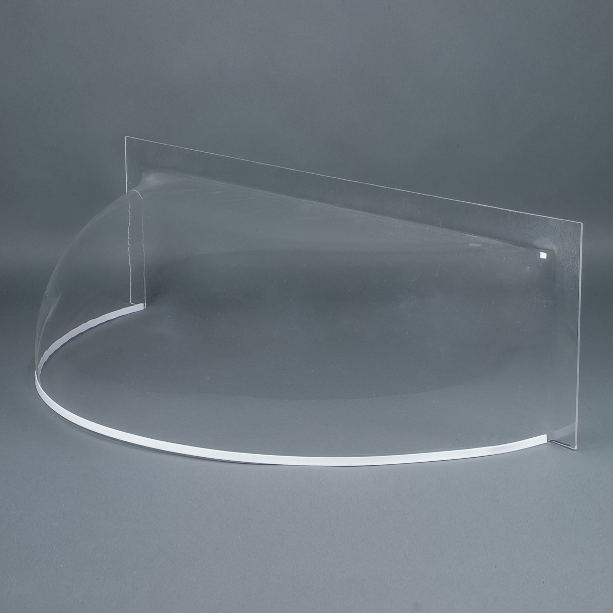 "Clear 3/16"" round front cast acrylic bubble window well cover"