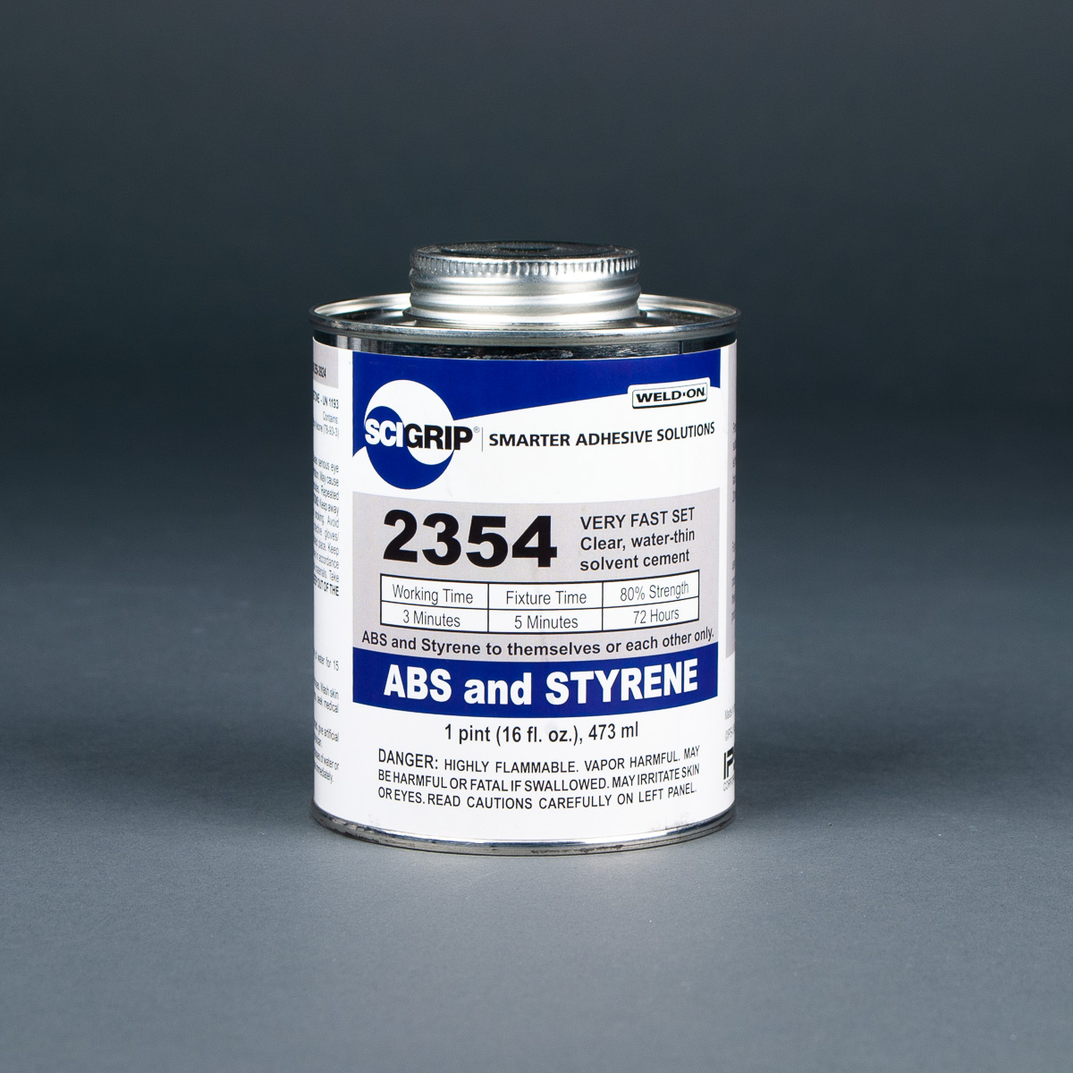 Weld-On ABS and Styrene Solvent Cement 1pt